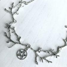 Dark Forest Branches Gothic Pentagram Pendant Wiccan Pagan Necklace Jewelry