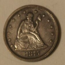 1875-S 20 CENT SILVER COIN Rare High Grade AU- UNCERTIFIED .........SEE PHOTOS