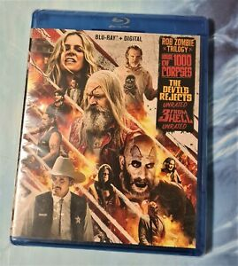 Rob Zombie Trilogy:house of,rejects(Blu ray,2020,3 disc Set)VERY GOOD rA an abc