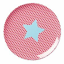 RICE Melamine side or lunch plate in pink star