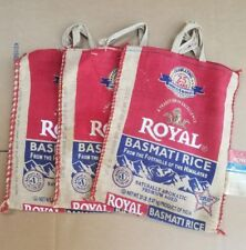 3 Royal Basmati Rice Bags With Zippers And Handles!