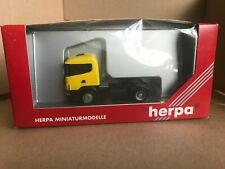 Herpa 1:87 HO Scania 124 Tractor Unit Yellow Model 144841