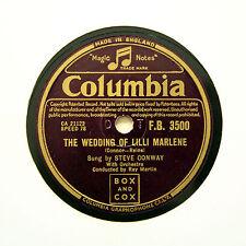 """Steve Conway """"le nozze di Lilli Marlene"""" (e +) COLUMBIA FB-3500 [78 rpm]"""