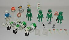 Lot playmobil vintage moto agent police circulation 3232