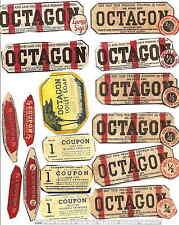 VINTAGE Octagon Soup Coupons 16 Different