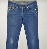 G-Star Midge Straight WMN 6021 W29 L34 blau Damen Designer Denim Jeans Hose VTG