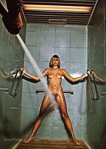 1974 Vintage HELMUT NEWTON Female Nude Shower Beauty Treatment Photo Art 16X20