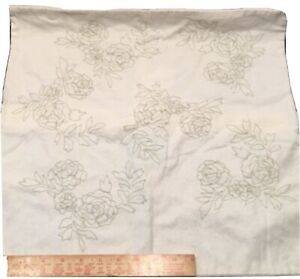 Ashwell Simply Shabby Chic Rose Floral Sage Green Ivory Throw Pillow Cover Sham