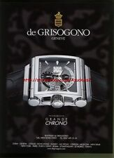 de Grisogono Grande Chrono Watch 2011 Magazine Advert #1123