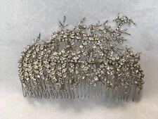NEW Jenny Packham stunning large crystals silver beads embellished comb bridal