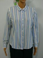 Blair Women's Striped Button Down Long Sleeve Shirt, Size PL
