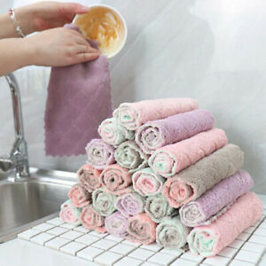 1pc Soft Absorbent Towels for Kitchen Dish Cleaning Cotton Cloth Tea Towels