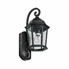 Maximus Video Security Camera & Outdoor Light Coach Black Works with Alexa