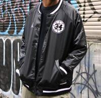 Nike Air Jordan He Got Game Retro Satin Varsity Jacket Size Extra Large XL Black