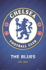 "CHELSEA FOOTBALL CLUB POSTER ""CLUB CREST"" LICENSED ""BRAND NEW"" SOCCER EPL"