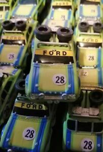 AFX Aurora G Plus HO scale slot car Green Rally Ford Escort