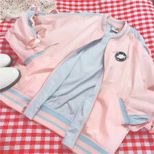 Japanese Sweet Kawaii Mori Girl BF Princess Bowknot Coat Baseball Jacket Woman's