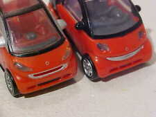 LOT 2x Mercedes-Benz Smart ForTwo For2 Coupé 2007 MPG Plastic 1/72 H0 Mint Loose