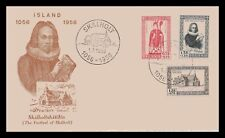 Iceland 1956 FDC, 900th Anniversary og the Bishopric of Skálholt. Lot # 1.