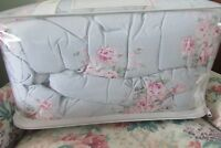 SIMPLY SHABBY CHIC BLUE BELLA FLORAL FULL/QUEEN COMFORTER SET