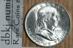 "1950 Franklin Half Dollar /""CH BU/"" *Free S//H After 1st Item*"