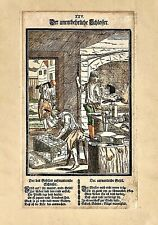 "Original 1689 Woodcut CURIOSER SPIEGEL Plate XXV ""The Indispensable Locksmith"""