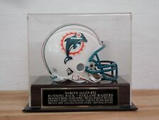 Football Mini Helmet Display Case With A Marcus Allen Oakland Raiders Nameplate
