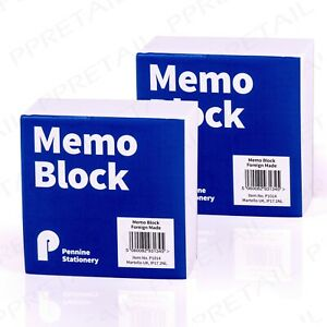 2 x Memo Block -800 SHEETS- Refill/Replace Paper Jotter Office Desk Notelet Cube
