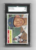1956 TOPPS AL ABER #317 - SGC 96 MINT 9 - DETROIT TIGERS - GRAY - POP 2 HIGHEST