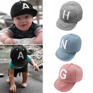 Baumwolle Baby Hut Baseball Cap Sonnenschutz für Kleinkind Kinder Brief Muster