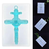 DIY Silikonform Vintage Kreuz Jesus Spiegel Epoxidharz Formen Schmuckherstellung