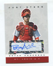 2007 Just Stars White Autograph RC #51 Bryan Anderson #/100 Cardinals