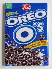 Oreo O's FRIDGE MAGNET (2 x 3 inches) cereal box chocolate cookies