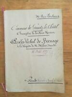 16 octobre 1897 Procès verbal de Bornage - Gometz le châtel - géomètre Girard