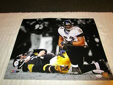 Ray Lewis Sacking Big Ben  Autograph 16 X 20 Photo SILVER Ink JSA Authentic
