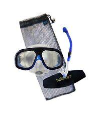 Seasoft ARC Lens Visionaire Matrix Mask and Snorkel Set with Mask Strap Blue