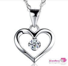 Heart CZ Chain Costume Necklaces & Pendants