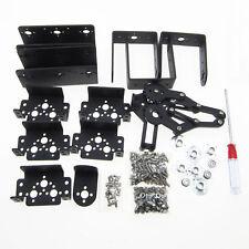 HOT 6 DOF 47cm Aluminium Mechanical Robotic Arm Clamp Claw Mount Robot Kit Black