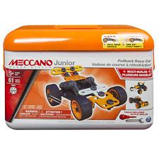 Meccano 6027720 Junior Toolbox Pullback Racecar Styles Vary, Multicolour