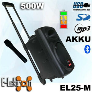 """10"""" inch Speaker 500W Mobile PA Sound System Battery BT/MP3/USB/ 1 Mic Portable"""
