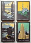 LOT OF 4 LANDS AND PEOPLES: THE WORLD IN COLOR VOL. 1, 3, 4 & 6 HARDCOVERS 1961