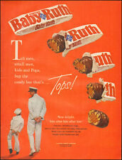 1961 VINTAGE AD Curtiss Baby Ruth Candy Bar Retro rot Curtiss Candy Co. 071917