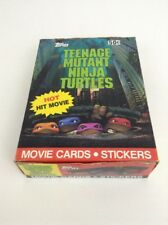 Teenage Mutant Ninja Turtles 1990 Movie Cards Stickers Topps Box Poster 36 Packs