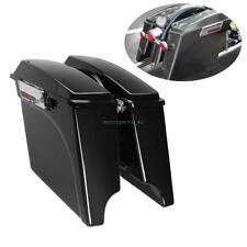 "4"" stretched Saddlebags For 93-13 Harley Touring Road Glide Street Glide FLHT"