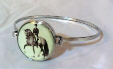 """Silver Metal 7"""" Snap Bracelet Horse Snap Horse Dressage Piaffe 18-20Mm Bubbles!"""