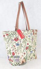 Morning Garden Flower Design Large Sized Tapestry Hand Bag-Shoulder Bag Signare