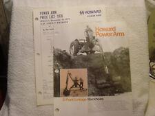 HOWARD ROTAVATOR POWER ARM BACKHOES c 1960 s brochure price list