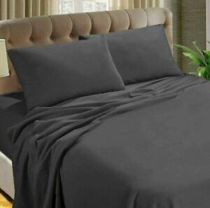 Thermal Flannelette Soft Brushed Cotton Sheets Fitted/Flat/Pillow Case Sheet Set