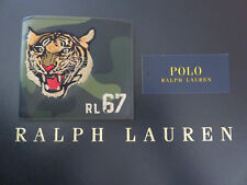 Polo RALPH LAUREN Camo Vachetta Leather and Embroidered Tiger Wallet Billfold