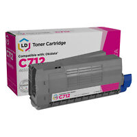 LD Compatible Replacement for Okidata 46507602 Magenta Toner for use in C712dn